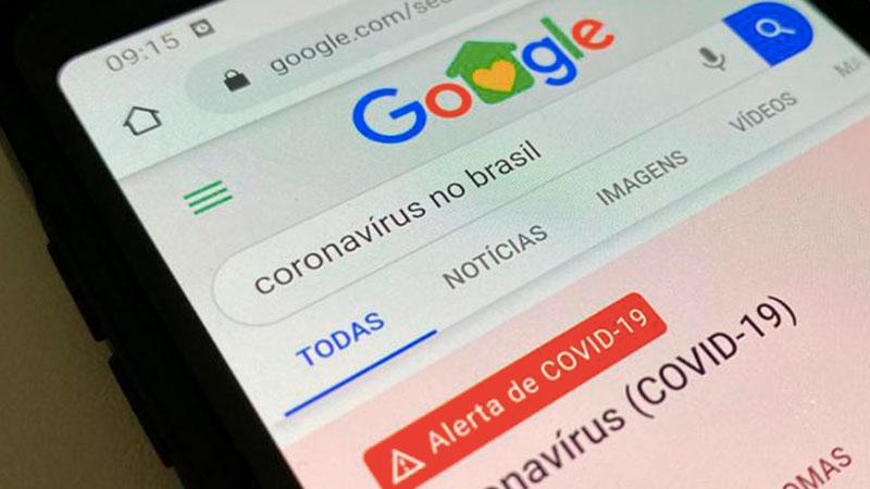 Com o aumento de casos confirmados do novo coronavírus no país, brasileiros buscam no Google as principais orientações sobre a pandemia.